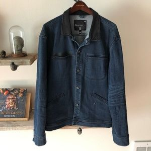 Contrast Collar Denim Jacket